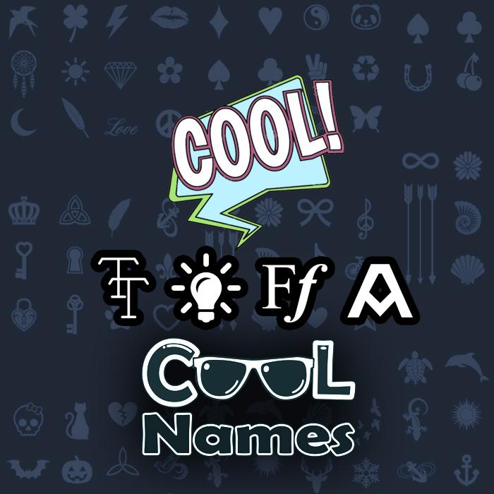 Toutes les décorations et caractères pour 😍 Shfwn - Décoration Cool noms 😎